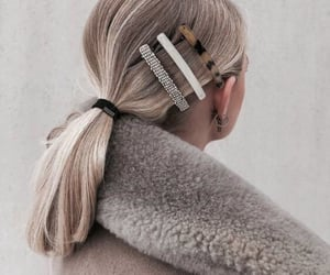 blonde, clips, and hair image