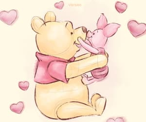 disney, line, and piglet image