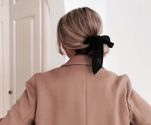 blonde, black, and bow image