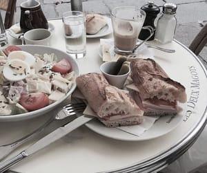 food, coffee, and salad image