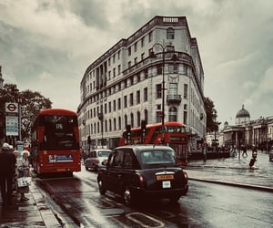 london, red bus, and travel image