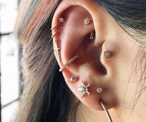 piercing, girl, and accessories image