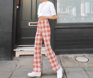 casual, checkers, and fashion image