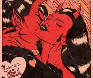Devil, love, and red image