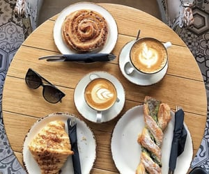breakfast, cafe, and cappuccino image