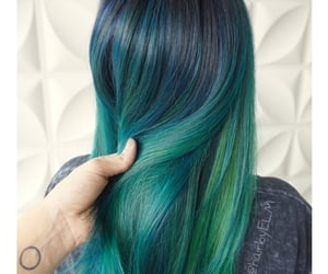 blue-green hair color image
