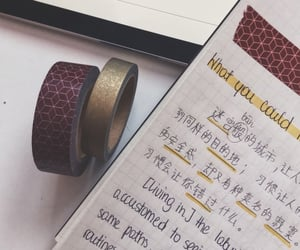chinese, red, and washi tape image