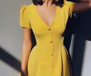 yellow and dress image