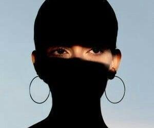 eyes, hoop earrings, and shadow image