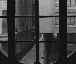 b&w, black, and city image