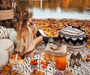 autumn, blankets, and candles image