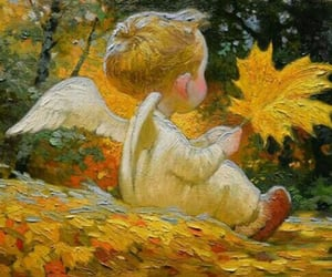 angel, art, and autumn image