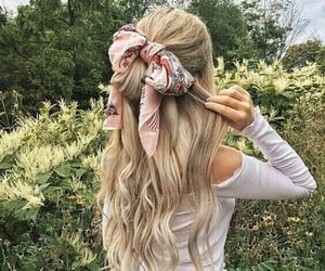 blonde, bow, and curly image