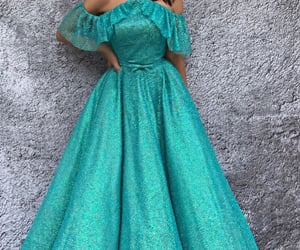 dress, turquoise, and formal image