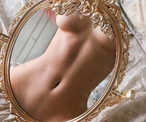 body, girl, and mirror image