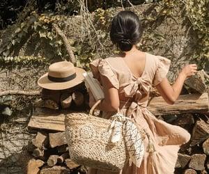 basket, beige, and dress image