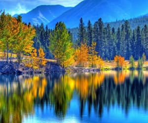 autumn, mountains, and trees image