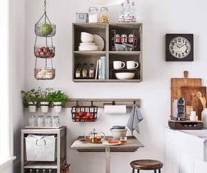 kitchen, organized, and simple image