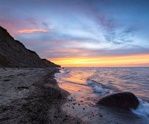 Baltic Sea, beach, and blue hour image