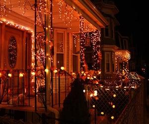 Halloween, light, and house image