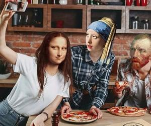 art, funny, and mona lisa image