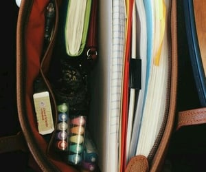 school, bag, and college image