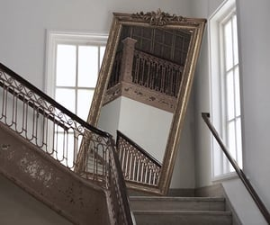 mirror and stairs image