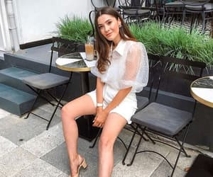 blouse, chanel shoes, and fashion image
