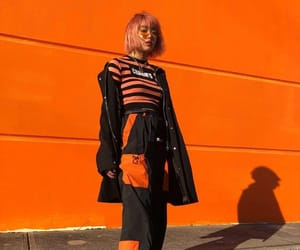 fashion, orange, and aesthetic image