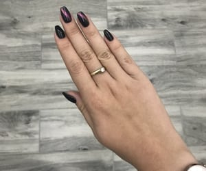 black, polish, and polishnails image
