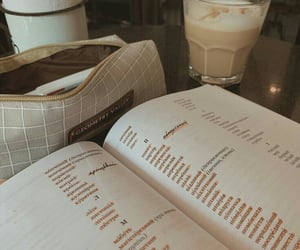 aesthetic, book, and coffee image