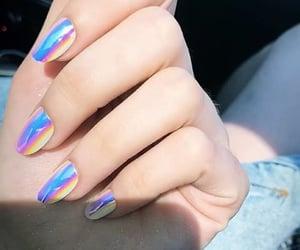 fake nails, make-up, and acrylic nails image