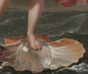 art, goddess, and pearl image