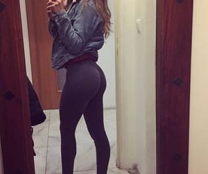 butt, leggings, and sporty image