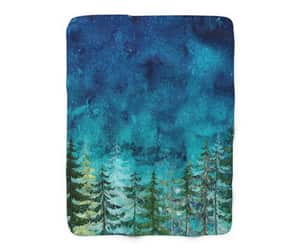 etsy, forest trees, and woodland blanket image