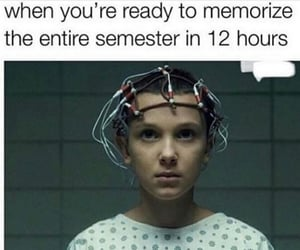 brain, eleven, and exams image