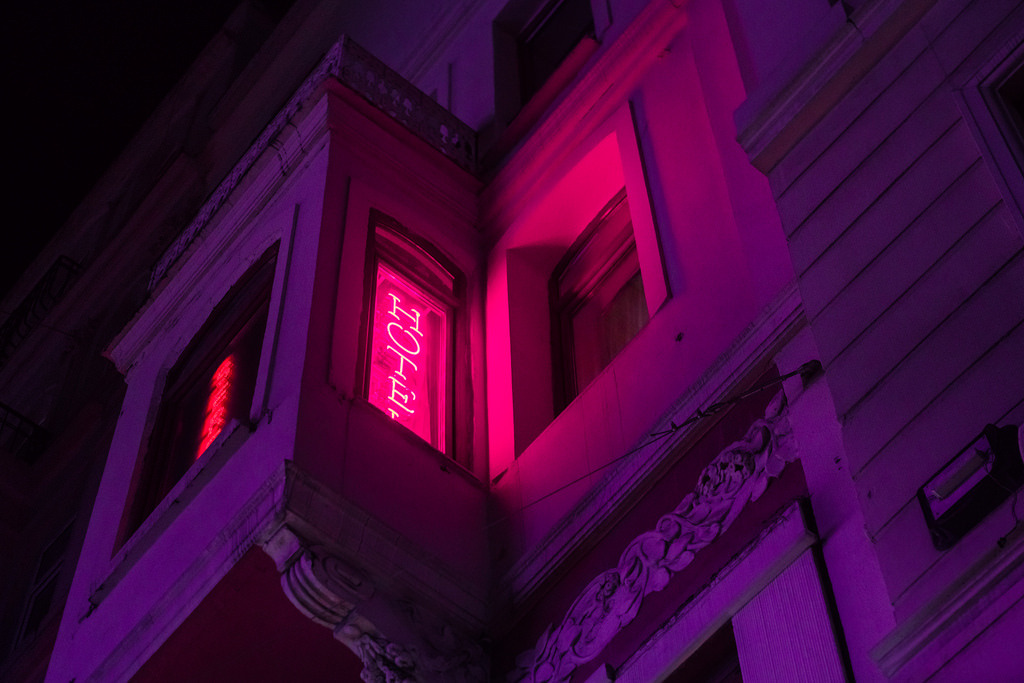 article, pink lights, and rm image