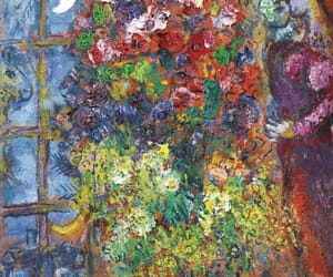 art, flowers, and night image