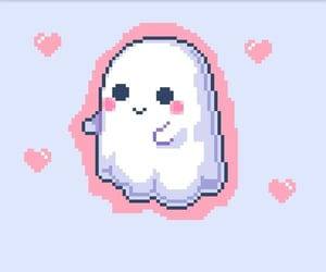 ghost, Halloween, and kawaii image