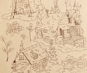 doodles, Houses, and log cabin image