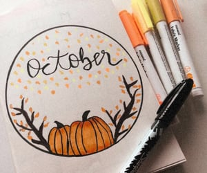 aesthetic, autumn, and draw image
