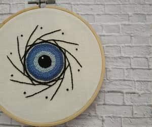 blue eye, etsy, and feminist image