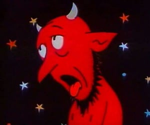 Devil, red, and cartoon image