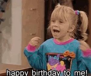 birthday, happy birthday, and me image