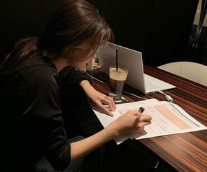 girl, study, and aesthetic image