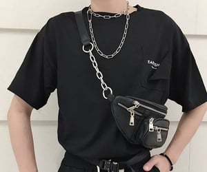 black, chain, and fanny image