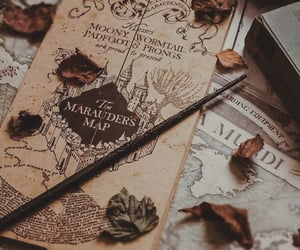 harry potter, autumn, and fall image