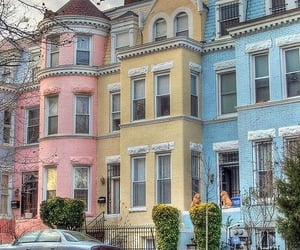 house, pastel, and colors image