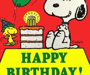 happy birthday and snoopy image