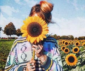 flowers, hair, and hanover image